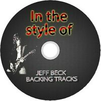 JEFF BECK IN THE STYLE OF GUITAR BACKING TRACKS CD BEST GREATEST HITS MUSIC ROCK