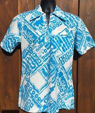 New listing Vintage 60's Funky Mod Tropicana Hawaiian Pull-over Luau Shirt Medium