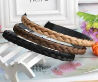 Hot Women's 4 Colors Hair Bands Braided Plaited Hairband Hair Accessories