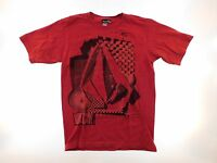 Volcom Mens T Shirt Size S Small Red Crew Neck Fitness Active Gym Running Lounge
