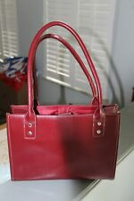 WILSONS LEATHER MAXIMA Maroon purse, strap handles, Snap