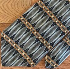 "Vintage Zylos Men's Tie, Black Silver Copper Shimmer,100% Silk, 4"" x 59""  STYLE!"