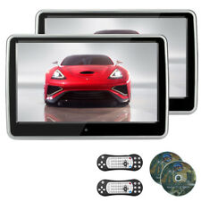 2pcs 10.1'' TFT LCD Touch Screen Headrest DVD Player IR/FM/Speaker DVD/VCD/MP3