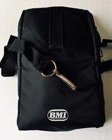 Cassette/CD Soft Black Zippered Nylon TDK Carrying Case Crossbody Bag Strap NEW