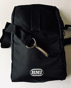 TDK Cassette Carrying Case Soft Black Zippered Nylon Crossbody Bag Strap ALL NEW