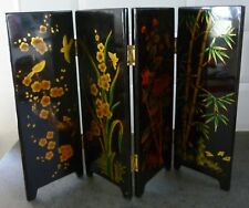 Miniature Desk Folding Screen Oriental Design 4 Panels 10inches tall