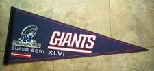 2011 New York GIANTS Super Bowl XLVI  NFC Champs NFL Football PENNANT
