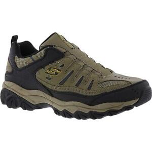 Skechers Mens After Burn Tan Hiking, Trail Shoes 8 Extra Wide (E+, WW) BHFO 3757