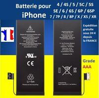 BATTERIE IPHONE 4 / 4S / 5 / 5C / 5S / SE / 6 / 6P / 6S / 6S Plus / 7P / 8 / X