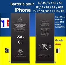 BATTERIE neuve IPHONE 4 4S 5 5C 5S SE 6 6P 6S 6SP 7 7P 8 8P X XR XS Max Plus