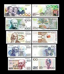 Bélgica - 2x 100 - 10.000 Francs - Edición ND 1982 - 1997 -Reproducción - B 02