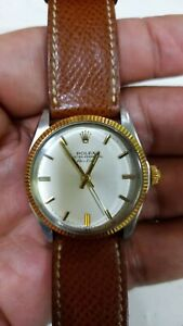 Rolex Air King 5500 Gold Plated very elegant, in original box and mint condition