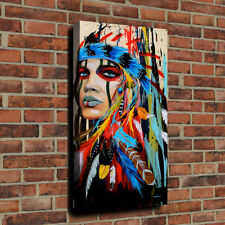 Modern Native American Women Painting Art HD Print On Canvas Home Decor Unframed