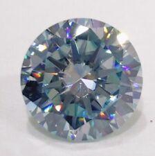 Round Brilliant Cut Loose Moissanite 4 Ring 0.95 Ct 6.44x 3.78 mm Vs1 Light Blue
