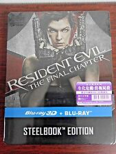 Resident Evil The Final Chapter 3D+2D Blu-ray Steelbook (HKG Ver) Region Free