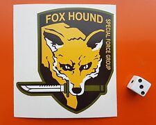 Metal Gear Solid Fox Hound Grupo de Fuerzas Especiales Pegatina de vinilo Xbox, ps4