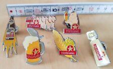 Hürlimann Bier Pins, 6er Set, Getränke Pin