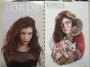 LORDE 2013 Royals 2 sided promotional poster Flawless New Old Stock Condition