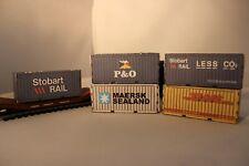 00 gauge Model Railway Containers Ship Yard Scene Stobart Rail P&O DHL