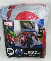 Marvel Avengers Fight Club 2 Piece Twin Full Comforter & Sham Set Reversible Bed