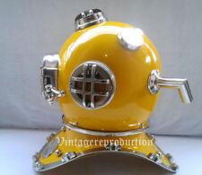 New Vintage Navy V Mark Deep Scuba Boston Diving Helmet Sea Divers Yellow Style