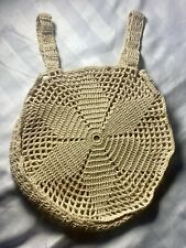 Vintage hand crochet Circular bag