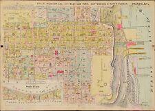 1909 WEST NEW YORK, NORTH BERGEN, GUTTENBERG HUDSON COUNTY, NEW JERSEY ATLAS MAP