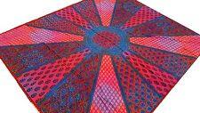 Motifs indiens Soleil Couvre-lit brodé à la main Tenture Batik Coton Inde Boho