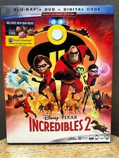 Disney Pixar Incredibles 2 (Blu-ray + Dvd, 2018, 3-Discs)