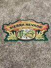 Sierra Nevada Cutout Embossed Metal Tin Beer Sign 20 x 11 Bar Mancave Tiki HTF