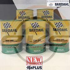 5 Litri Olio BARDAHL BARDHAL TECHNOS C60 5W40 Polarplus Fullerene 100% Sintetico