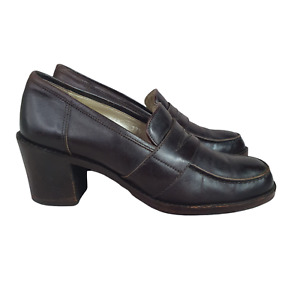Pirelli Prendin Penny Loafers Womens 6 Heels Made in Italy Eur 37.5 Leather
