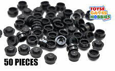 *NEW* LEGO 50x Black 1x1 Round Plate Tile Caps City Halloween Monster Vehicle