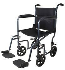 """19"""" Transport Chair Portable Mobility Medical A226-00 Carex Foldable Wheelchair"""