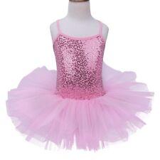 Girls Kids Gymnastics Leotard Ballet Dress Dance Tutu Skirt Dancewear Costumes