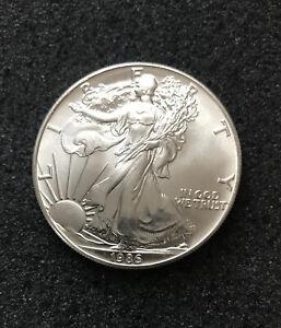 1K- 1986 Silver Eagle Philadelphia Mint American Silver Eagle Dollar Excellent
