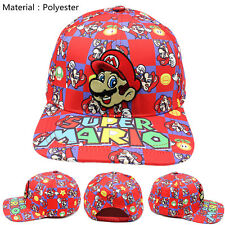 Super Mario Bros Snapback Baseball Cap Mens Womens hip-hop Hat Golfcap