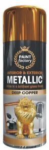400ml Metallic Copper Spray Paint Interior & Exterior Spray Aerosol Can HLU