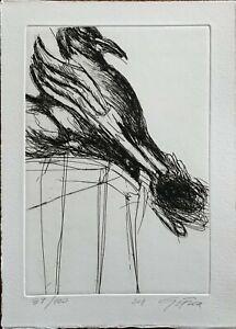 Giancarla Frare S.T.  2011  acquaforte incisione 22 x 31 firmata numerata 39/100