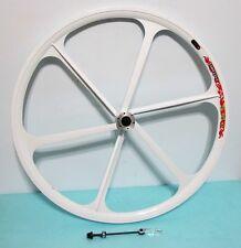 "NEW Mag Alloy White 29"" 8/9/10-gear  MTB FRONT Bike Rim, Disc Brake"