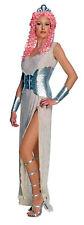 APHRODITE Grecian Goddess Costume Gold Glitter Gown Dress Adult Small 6 7 8 9