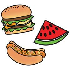 "Imaginisce Endless Summer ""Picnic"" Clear Stamp! Hamburger Hot Dog Watermelon"