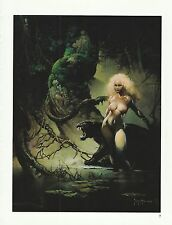 """1996 Full Color Plate """" Princess and the Panther """" Frank Frazetta Fantastic GGA"""