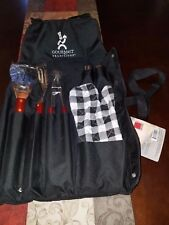 New Gourmet Traditions Deluxe Bbq Caddy with Cooking Utensil Set with Apron