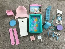 19 Vintage Barbie Doll Cruise Ship Boat Dance Party Playset Accessories & Pool