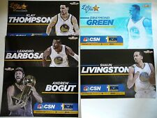 5 Golden State Warriors 2015 Champions Authentic Fan Posters/Card-Green/Thompson