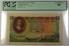 1954-59 7.11.1957 South Africa 5 Pounds Bank Note SCWPM# 97c PCGS EF-40 (D)