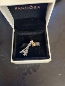 Genuine Pandora Two Tone Eiffel Tower Charm. Boxed. Xmas gift