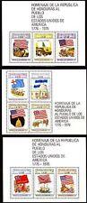 Honduras 1976 ** bl.26/28 Indépendance Amérique Drapeaux Flags [sp809]