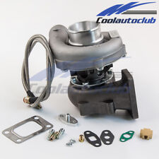 T3/T4 T04E TURBO CHARGER .63 A/R TURBINE FOR CIVIC D16 B16 B18+OIL FEED LINE